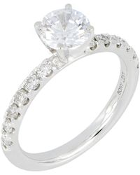 Bony Levy Pavé Diamond Round Engagement Ring Setting (nordstrom Exclusive) - Metallic