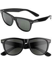 10a6db3ca9fc3 Lyst - Ray-Ban Polarized Basic Wayfarer Sunglasses in Black for Men