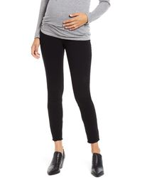 1822 Denim - Re:denim Frayed Hem Skinny Maternity Jeans - Lyst