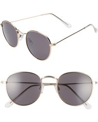 BP. 48mm Round Metal Sunglasses - Metallic