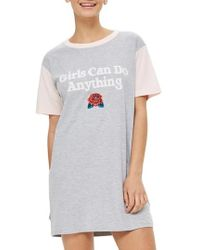 TOPSHOP | Girls Can Do Anything Sleep Shirt | Lyst