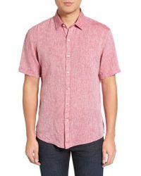 Zachary Prell - Kaplan Slim Fit Linen Sport Shirt - Lyst