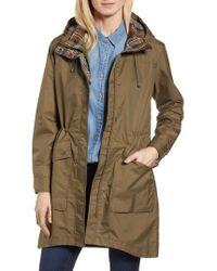 Pendleton - Mackenzie Plaid Trim Raincoat - Lyst