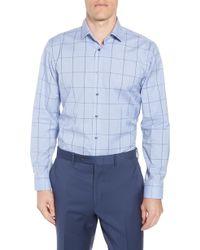 Calibrate - Trim Fit Non-iron Windowpane Dress Shirt - Lyst