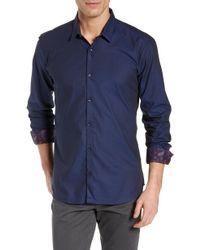 Jared Lang - Trim Fit Dot Sport Shirt - Lyst