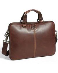 Boconi - 'bryant' Slim Leather Laptop Briefcase - Lyst