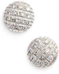 Dana Rebecca - 'lauren Joy' Diamond Disc Stud Earrings - Lyst