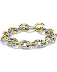 David Yurman Oval Large Link Bracelet With Gold - Multicolor