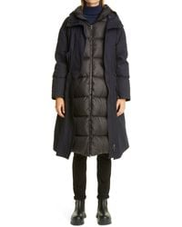 Mr & Mrs Italy 3-in-1 Long Down Puffer Parka - Black