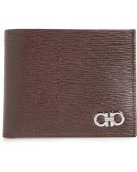 Ferragamo - Revival Gancio Bifold Leather Wallet - Lyst
