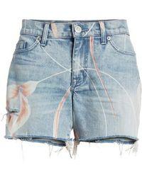 Hudson Jeans - Valeri Painted Denim Shorts - Lyst