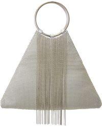 Whiting & Davis - Cascade Fringe Triangle Bracelet Bag - Metallic - Lyst