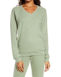 Pj Salvage Thermal V-neck Pullover - Green