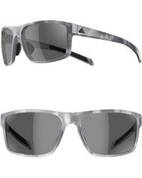 1016800afb Lyst - adidas Originals Whipstart 61mm Sunglasses - Dark Grey  Red ...