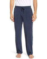 Daniel Buchler Stretch Pyjama Pants - Blue