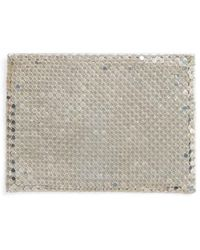 Whiting & Davis - Faux Leather & Mesh Card Case - Metallic - Lyst