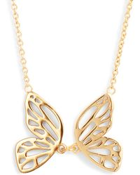 Olivia Burton - Butterfly Pendant Necklace - Lyst