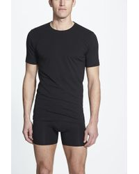 Naked - Essential 2-pack Stretch Cotton T-shirt, Black - Lyst