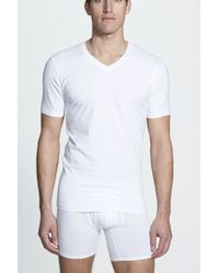 Naked - Essential 2-pack Stretch Cotton T-shirt, White - Lyst