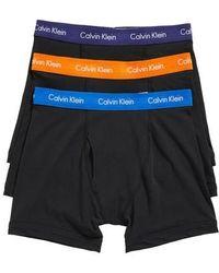 Calvin Klein | 3-pack Boxer Briefs, Black | Lyst