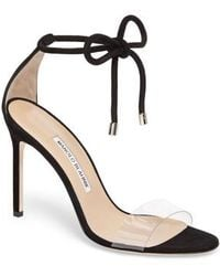 Manolo Blahnik - Estro Ankle Tie Sandal - Lyst