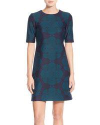 Taylor Dresses - Graphic Print Scuba Shift Dress - Lyst
