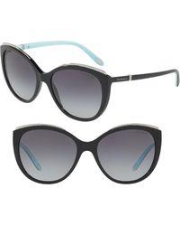 5de5d17531 Lyst - Chanel Cc Cat-eye Sunglasses in Black