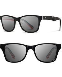 Shwood 'canby - Pendleton' 54mm Polarized Sunglasses - Black