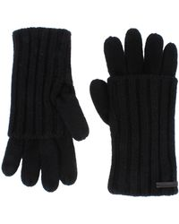 AllSaints Rib Wool Gloves - Black