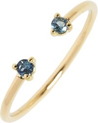 Wwake - Counting Collection Two-step Sapphire Ring - Lyst