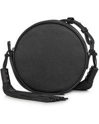 AllSaints - Kepi Circle Leather Crossbody Bag - Lyst