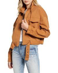Tinsel Crop Utility Jacket - Multicolor