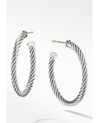 David Yurman Cable Classics Hoop Earrings - Metallic