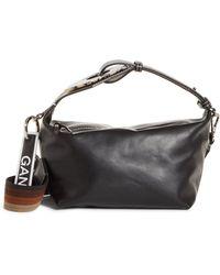 Ganni - Leather Handbag - Lyst