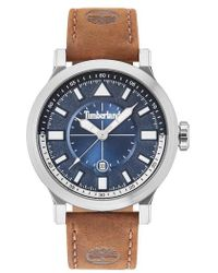 Timberland Driscoll Leather Strap Watch - Metallic