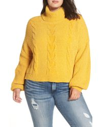 BP. - Cable Knit Chenille Sweater - Lyst