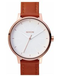 Nixon - 'the Kensington' Leather Strap Watch - Lyst