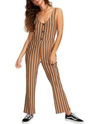 RVCA Carlton Stripe Jumpsuit - Multicolour