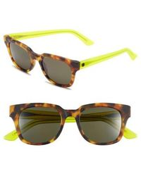 Electric '40five' 50mm Retro Sunglasses - Tort Lime/ Grey - Yellow