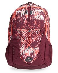 The North Face - 'jester' Backpack - Burgundy - Lyst