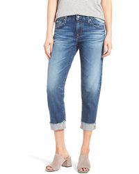 AG Jeans The Ex Boyfriend Crop Jeans - Blue