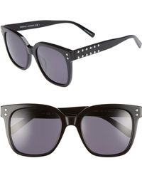 Rebecca Minkoff Cyndi 54mm Studded Sunglasses - Black