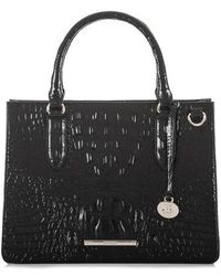 Brahmin - Small Camille Embossed Leather Satchel - Lyst