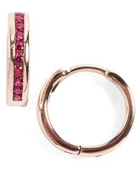 Anna Sheffield - 'licol' Ruby Hoop Earrings - Lyst