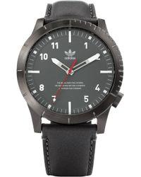 adidas - Cypher Leather Strap Watch - Lyst