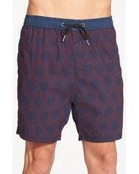 Zanerobe 'playa' Drawstring Swim Shorts - Blue