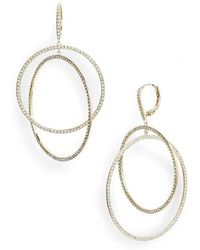 Nordstrom - Pave Intertwined Circle Hoop Earrings - Lyst