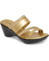 Athena Alexander Kozima Embellished Sandal - Metallic