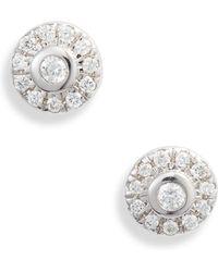 Dana Rebecca Lauren Joy Mini Diamond Disc Stud Earrings - Multicolour