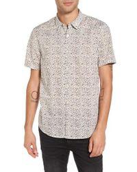 John Varvatos - Slim Fit Animal Print Short Sleeve Sport Shirt - Lyst